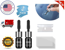 Automotive Glass Nano Repair Fluid Car Windshield Resin Crack Tool Kit 2 Pack