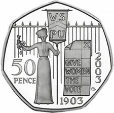 RARE SUFFRAGETTE 50p 2nd rarest coin after kew garden 1400 sold best seller Ebay