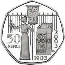 RARE SUFFRAGETTE 50p 2nd rarest coin after kew garden 1500 sold best seller Ebay