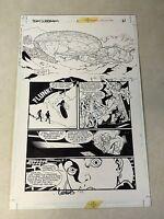 TEAM SUPERMAN #1 original comic art SUPERGIRL, SUPERBOY, STEEL, SPACESHIP