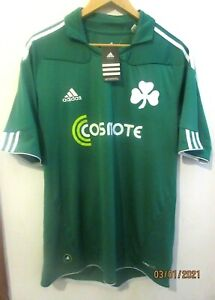 PANATHINAIKOS 2010 AUTHENTIC FOOTBALL SHIRT BY ADIDAS LARGE JERSEY GREECE GREEK