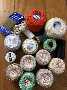 Joblot Craft Beads Yarn Coats Crochet String Tapestry Cotton Wool Crafting Box
