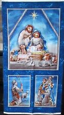 "1 Wonderful ""Nativity"" Christmas Cotton Fabric QuiltingWallhanging  Panel"