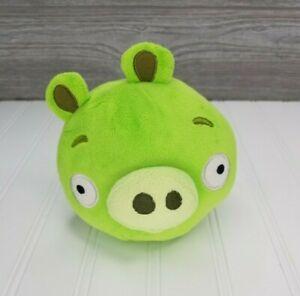 "Angry Birds Green Pig 5"" Plush Stuffed Animal Bad Piggies Toy 2010- No Sound"