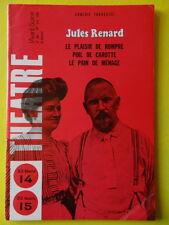L'Avant-Scène Théâtre 381 1967 Jules Renard Rompre Carotte Pain de Ménage
