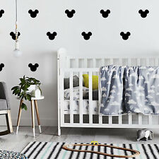 12 Pc's Large Mickey Mouse Baby Girl Kids Wall Vinyl Stickers Decor Room Bedroom
