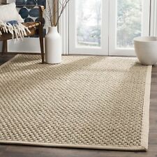 """Hand Made Natural Fibe Basketweave Natural and Beige Seagrass Area Rug 10"""" x 14"""""""