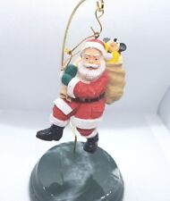 Vintage Santa Toy Sack Disney Mickey Mouse Christmas Ornament Resin Candy Cane