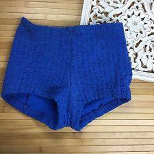 Vintage Womens Bikini Retro Swim suit bottoms hot shorts womens Blue Stretch ~GH