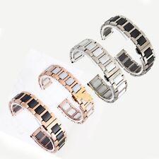 Ceramic Bracelet Stainless Steel Watchband Watch Strap Unisex Ceramic Butterfly