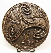 Wiccan Triple Goddess Maiden Mother Crone Collectible Statue Serpent Wall Plaque