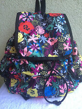New LeSportsac Lush Rose Floral Voyager Backpack Multi Colors