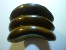 New: PONO By Joan Goodman 3 Tiered Wavy Wood Cuff, Made in Italy