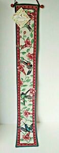 Wall Tapestry Bell Pull Hummingbirds and Flowers By Dan Gilbert