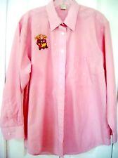 JACKPOT THEME Medium Button Up blouse-Pink Long sleeve-Decorative Rhinestones