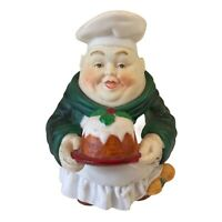 Vintage Department 56 Fat Chef Carrying Cake Figurine