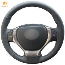 Top Black Genuine Leather Steering Wheel Cover Wrap for Lexus ES250 ES300h