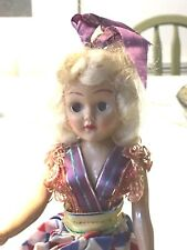 "Vintage Plastic Girl Doll 7 1/2"" with movable eyes & arms w/xtra head & arm"