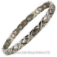 NEUF pour femmes Bracelet magnétique en titane 34 NdFeB aimants santé