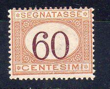 1924 ITALY REGNO SEGNATASSE 60 CENTESIMI INTEGRO C/5143