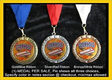 Cornhole Corn Hole Medal Trophy Award , (1) ONE medal per auction.