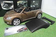 VOLKSWAGEN THE BEETLE Cabriolet Convertible brun 1/18 KYOSHO 08812TBR miniature