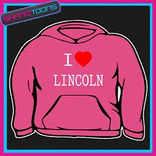 I Love Corazón Lincoln Sudadera Con Capucha De Todos Los Tamaños Y Colores
