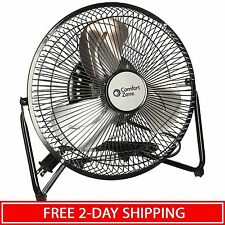 Floor Fan 3-Air Speed Portable High Velocity Cooling Room Cradle Fans with Stand