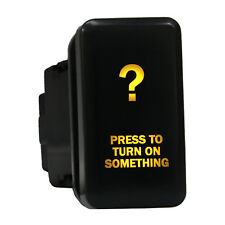 Push switch 8B93O 12V Toyota PRESS TO TURN ON SOMETHING LED amber ON-OFF