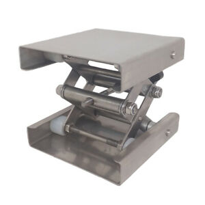 Stainless Steel Lab Lifting Platform Stand Rack Scissor Jack Bench Lifter Table
