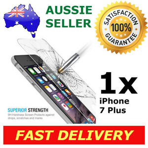 1x iPhone 7 Plus Glass Screen Protector 9H Premium Tempered Shatter Proof Apple