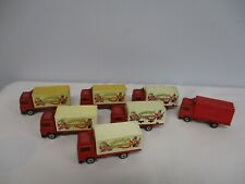 7 1981 MATCHBOX VOLVO CONTAINER TRUCK with BIG TOP CIRCUS