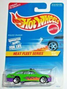 Hot Wheels Police Cruiser #537 HW '96 Heat Fleet Series 1/4 Green VHTF!