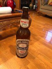 Vintage Large Heineken Promo Plastic Bottle 24� Dark Beer