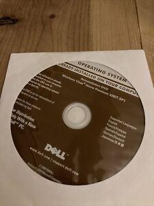 Dell Window Vista Home Premium SP1 32-Bit Restore Reinstallation DVD Disc NEW