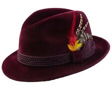 SELENTINO MAPLE GENUINE VELOUR FUR FELT FEDORA DRESS HAT ALL COLOR'S 6 1/2 - 8