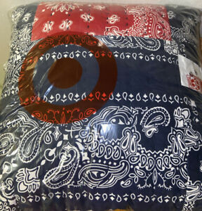 Pillow Target Exclusive Bandana Print 18x18 Navy And Red Factory Sealed