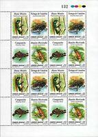Amphibians Frog turtle Reptile native from Uruguay full sheet Sc#1893 MNH cv$48