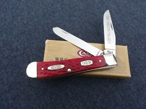 CASE XX *a 1996 TRANSITION RED BONE TRAPPER KNIFE KNIVES