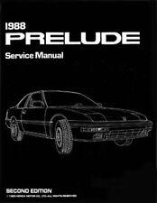 Bishko OEM Repair Maintenance Shop Manual Bound for Honda Prelude 1988