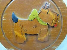 Vintage Wood Scottie Scotty Dog Hot Pad Holder Plaque Wall Decor