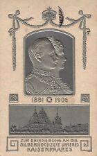 1342/ Präge AK, Kaiserpaar, Silberhochzeit 1906