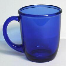 Arcoroc France Vintage Glass Cobalt Blue Cup 10 Ounce EUC