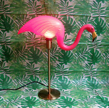 Pink Flamingo Lamp Vintage Table Lamp Style Camper Pink Flamingo Gold Midcentury
