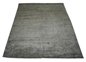 Silk & Cotton Hand Woven Shaggy Rug 147x189 cm Room Decor Carpet DN-1683