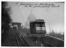 PARIS FUNICULAIRE MONTMARTRE Eglise Publicite ORIA 1930