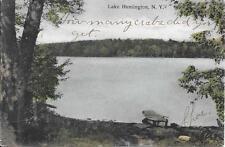 Lake Huntington NY Handsome Vintage postcard postally used in 1909?