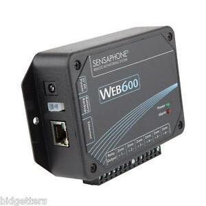 Sensaphone WEB600 Web-Based Monitoring Alarm Server System 6 Inputs Email Text