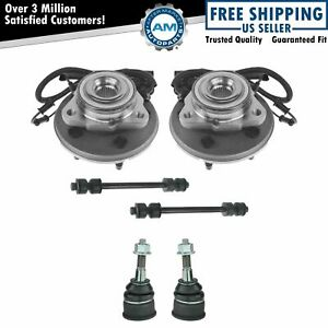 Front Wheel Bearing & Hub Assemblies Sway Links & Ball Joints Kit for Ford