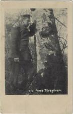 CPA Guerre Franz. Blindgänger niet ontplofte munitie Feldpost 1916 WereldoorlogI